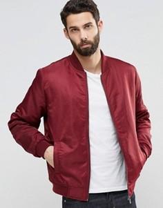 Нейлоновая куртка‑пилот Only & Sons MA1 - Красный
