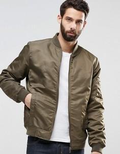 Нейлоновая куртка‑пилот Only & Sons MA1 - Зеленый