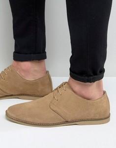 Серые замшевые туфли дерби ASOS - Stone