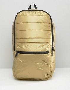 Стеганый рюкзак металлик Converse - Золотой