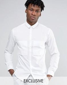 Рубашка навыпуск с большим карманом Noak - Темно-синий