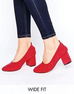 Туфли на каблуке для широкой стопы ASOS SIMONE - Красный