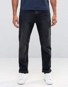 Черные выбеленные джинсы прямого кроя Esprit - Черный