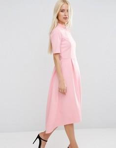 Платье миди с пышной юбкой ASOS - Розовый