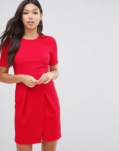 Фактурное двухслойное платье мини ASOS - Красный