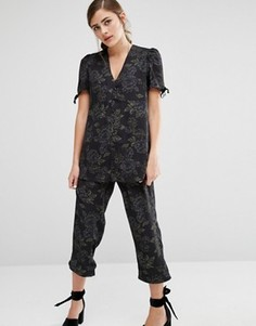 Пижамная рубашка с цветочным принтом Fashion Union Co-Ord - Мульти
