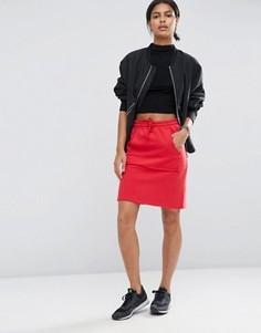 Трикотажная мини-юбка с карманом ASOS - Красный