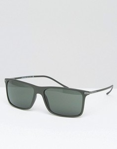 Зеленые матовые солнцезащитные очки квадратной формы Giorgio Armani - Зеленый
