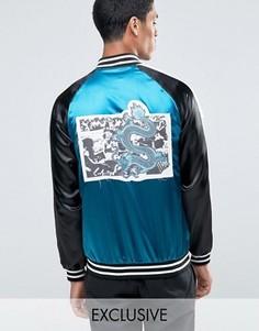 Куртка с нашивкой на спине Reclaimed Vintage Souvenir - Синий