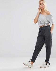 Домашние брюки галифе с завязками на манжетах ASOS - Серый