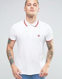 Белая футболка-поло слим с окантовкой Pretty Green - Белый