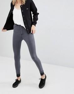 Супероблегающие джинсы с завышенной талией Dr Denim Solitaire - Серый