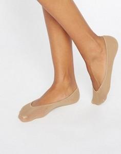 Хлопковые невидимые носки натурального цвета Jonathan Aston - Рыжий