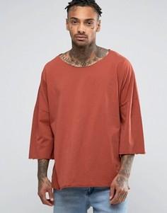 Oversize-футболка с заниженной линией плеч Granted - Оранжевый