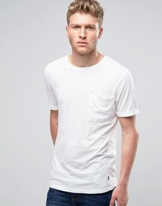 Футболка с крупным карманом Ringspun - Белый