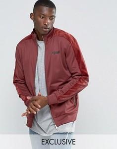 Спортивная куртка с бархатной отделкой Puma эксклюзивно для ASOS - Красный