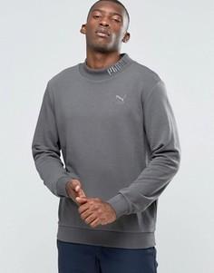 Свитшот с высокой горловиной и вышивкой логотипа Puma - Серый