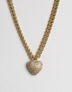 Ожерелье с цепочкой и сердечком Juicy Couture - Золотой