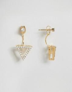 Серьги-гвоздики с треугольником Love Rocks - Золотой