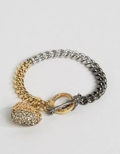 Браслет-цепочка с эффектом омбре и подвеской‑сердцем Juicy Couture Champagne - Золотой