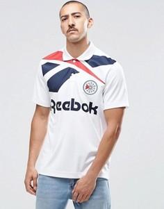 Белая футболка-поло в стиле ретро Reebok Vector B30599 - Белый