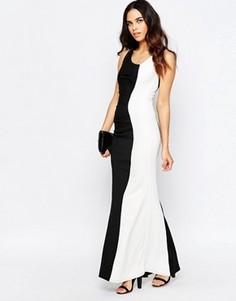 Черно-белое платье макси Jessica Wright Deelia - Черный