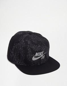 Черная бейсболка Nike SB Swarm Perf 804570-010 - Черный