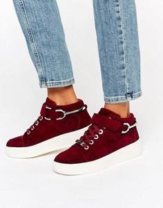 Нубуковые высокие кроссовки на платформе Carvela Linnet - Красный