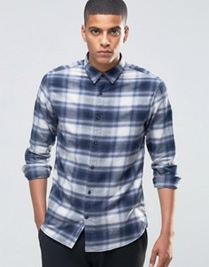 Фланелевая рубашка в клетку Selected Homme - Синий