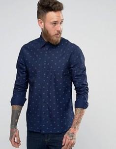 Рубашка с принтом Edwin - Темно-синий