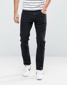 Черные укороченные джинсы слим ASOS - Черный