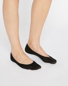 Черные хлопковые невидимые носки Jonathan Aston - Черный