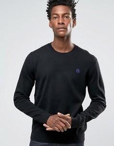 Черный джемпер с круглым вырезом и логотипом Paul Smith - Черный
