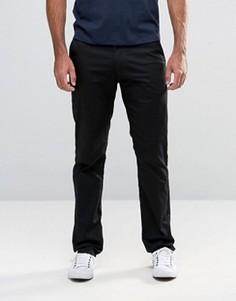 Черные эластичные брюки узкого кроя Farah - Черный