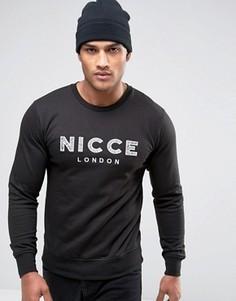 Свитшот с вышитым логотипом Nicce - Черный