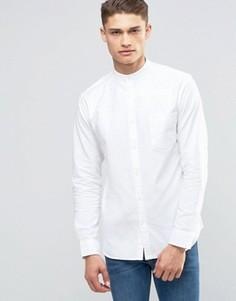 Оксфордская рубашка с воротником в стиле ретро Selected Homme - Белый