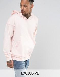 Oversize-худи с необработанными краями Other UK - Розовый