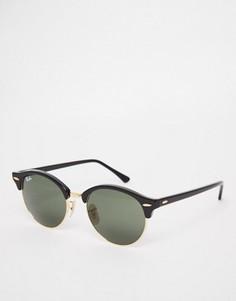 Круглые солнцезащитные очки Клабмастер Ray-Ban 0RB4246 - Черный