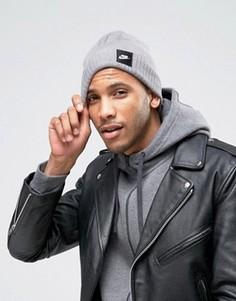 Серая шапка-бини Nike Futura 803732-091 - Серый