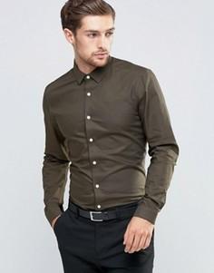 Оксфордская рубашка классического кроя цвета хаки ASOS - Зеленый