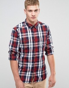 Рубашка классического кроя в клетку Esprit - Красный