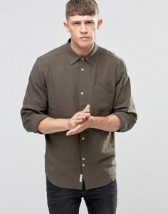 Льняная рубашка цвета хаки Bellfield - Зеленый