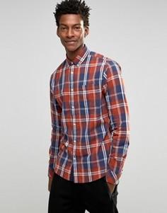 Рубашка в клетку с воротником на пуговицах Solid - Красный
