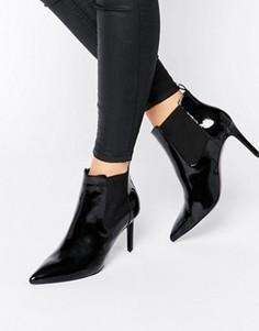 Ботильоны на каблуке с острым носком Office Angle - Черный