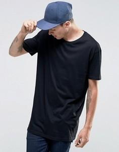 Удлиненная футболка Brave Soul - Черный