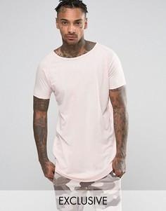 Удлиненная футболка Other UK - Розовый