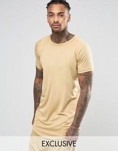 Удлиненная футболка Other UK - Stone