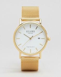 Золотистые часы с сетчатым ремешком Reclaimed Vintage - Золотой