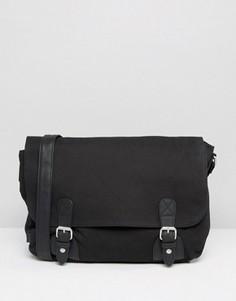 Черный парусиновый портфель ASOS - Черный