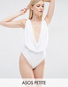 Слитный купальник ASOS PETITE - Белый